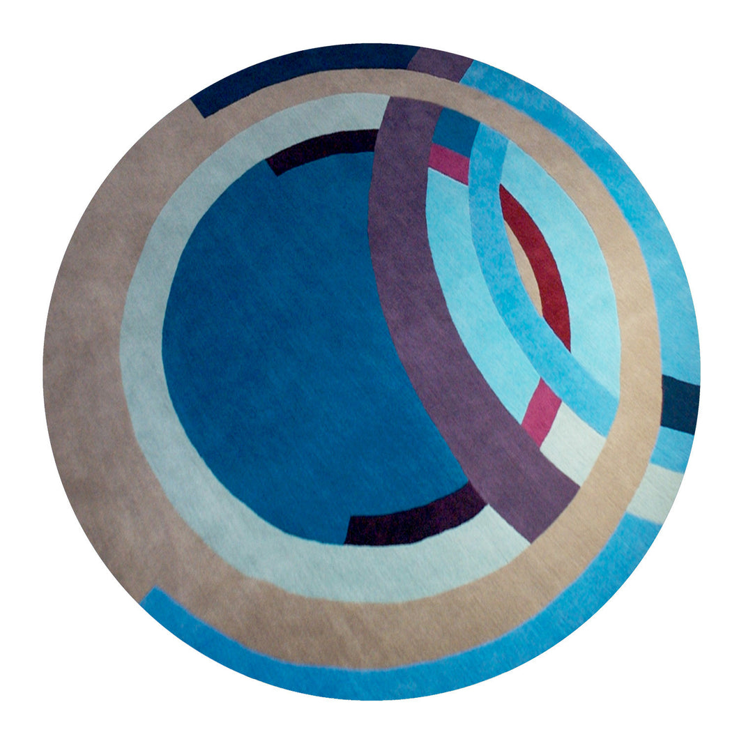 Cool Frank Circle – Hand Knotted Pile Rug