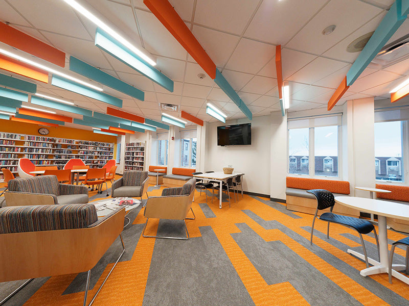 Liverpool Library carpet tile flooring