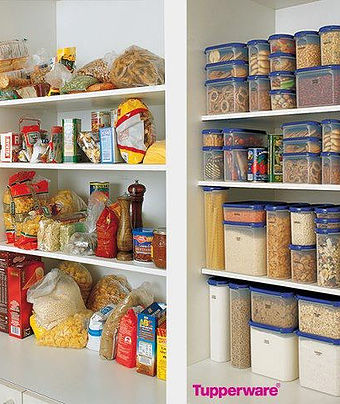 Tupperware Cupboard Organisation