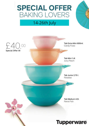 Tupperware Special Offer Bowls Set