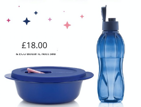 Crystalwave Bowl and 1L Bottle Set