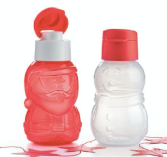 Tupperware Santa and Snowman Bottles - Tupperware Queen Shoo UK
