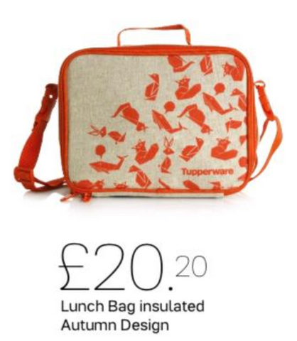 Tupperware Insulated Lunch Bag - Tupperware queen shop UK