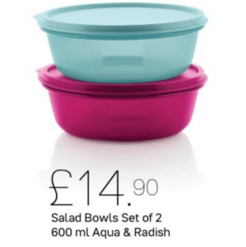 Tupperware Salad Bowls Set of Two