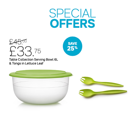 Tupperware Table Collection Serving Bowl Set - Tupperware Queen Shop UK