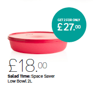 Tupperware Salad Time 2L Bowl