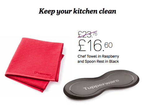 Tupperware - Tupperware Chef Towel And Spoon Rest
