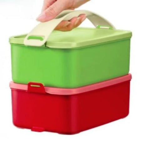 Tupperware - Tupperware Click And Go 1.5L Set Of 2 With Handle