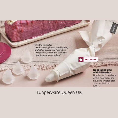 Tupperware Decorating Bag with 5 nozzles - Tupperware Queen Shop UK