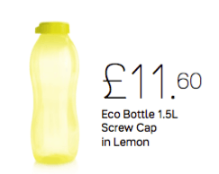 Tupperware Eco Bottle 1.5L Screw Cap in Lemon - Tupperware Queen Shop UK