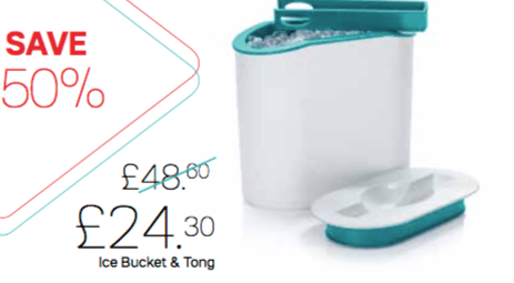 Tupperware Ice Bucket and Tong - Tupperware Queen Shop UK