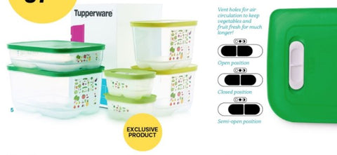 Tupperware - Tupperware Magnificent Ventsmart Set With 2 Exclusive 375ml Containers