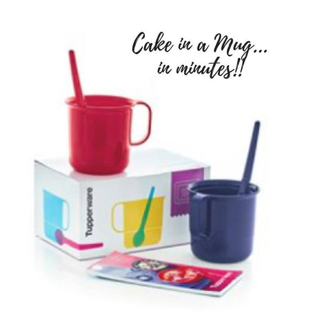 Tupperware Mugs To Make Chocolate Cake In
