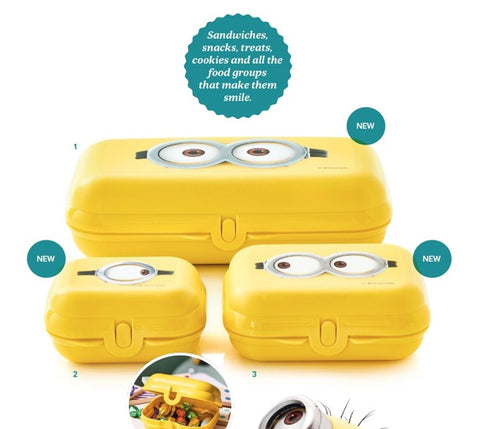 Tupperware Minions Sandwich Boxes - Tupperware Queen Shop UK