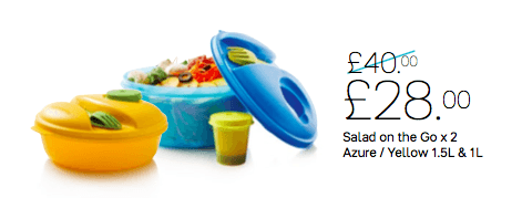 Tupperware - Tupperware Salad On The Go - Pack Of 2