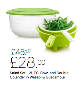 Tupperware - Tupperware Salad Set - 2L Bowl And Double Colander