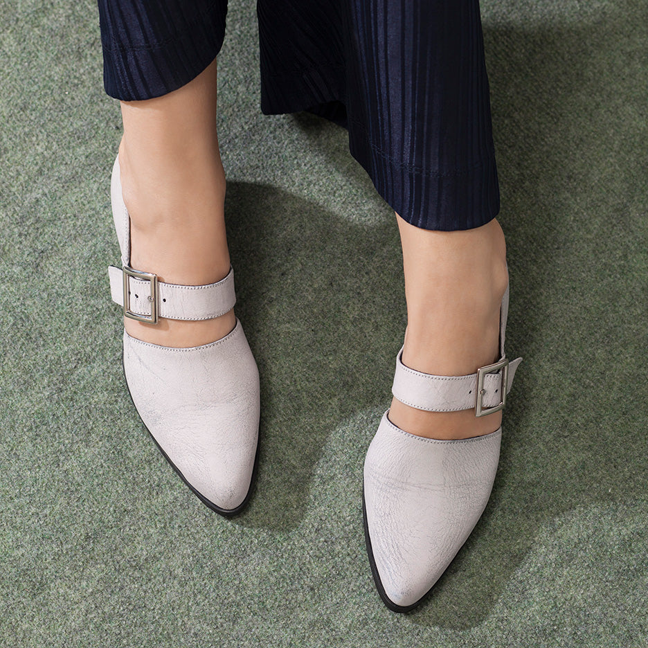 Ray - White Winter Pumps