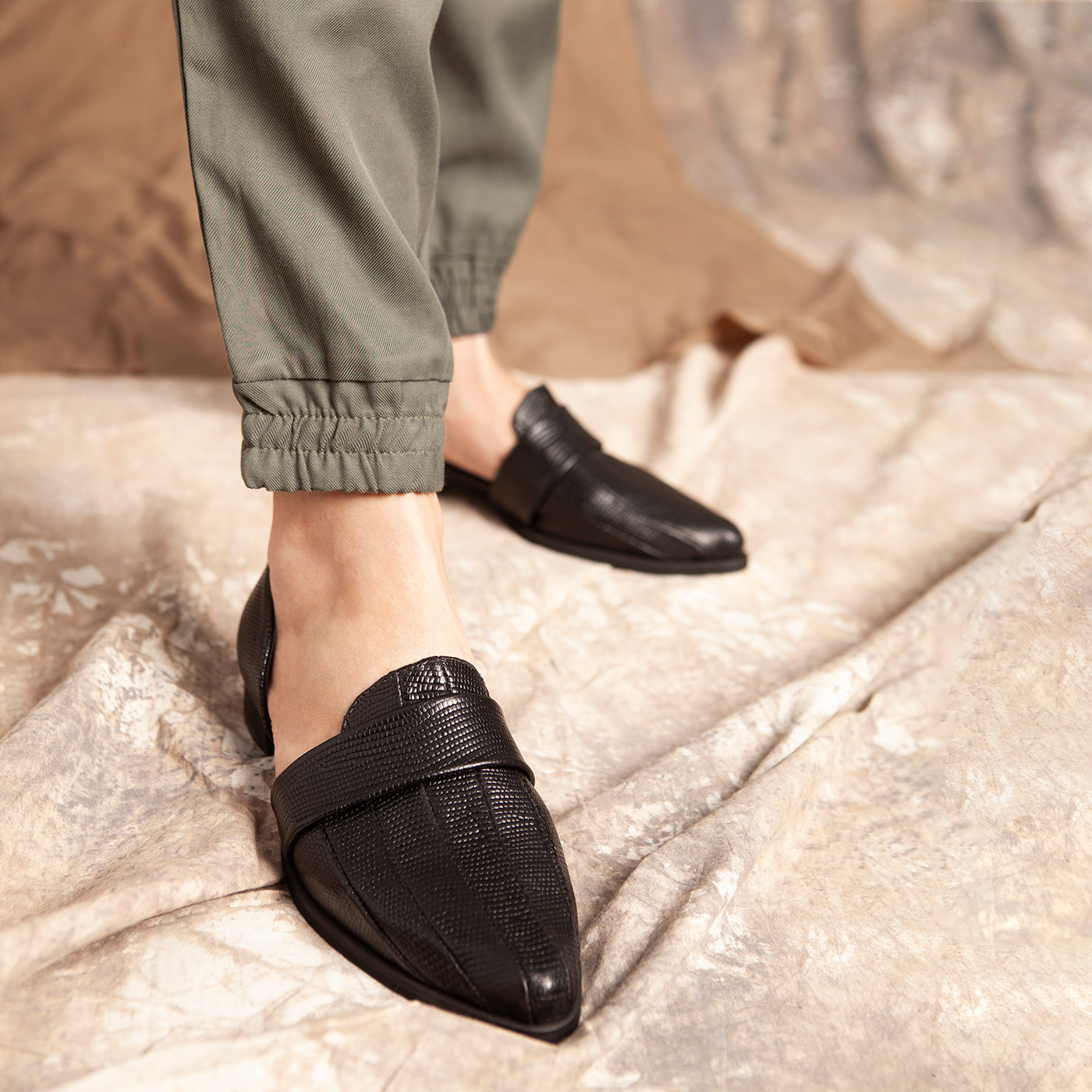 Blake - Black Leather Loafers