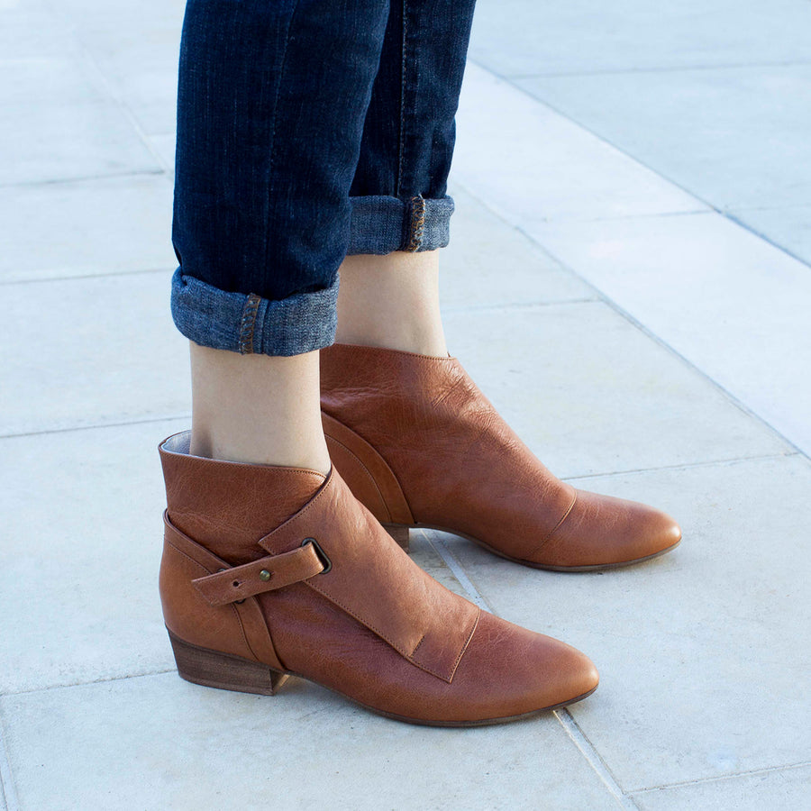 Cara - Low Heel Ankle Boots