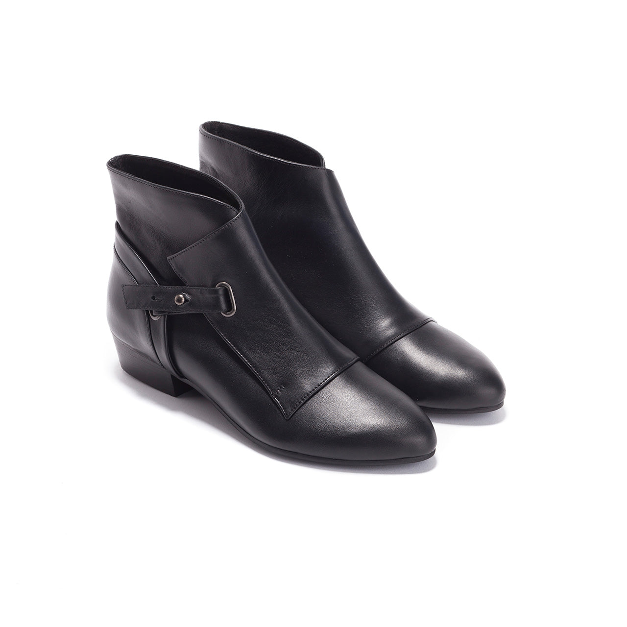 Cara - Black Ankle Boots