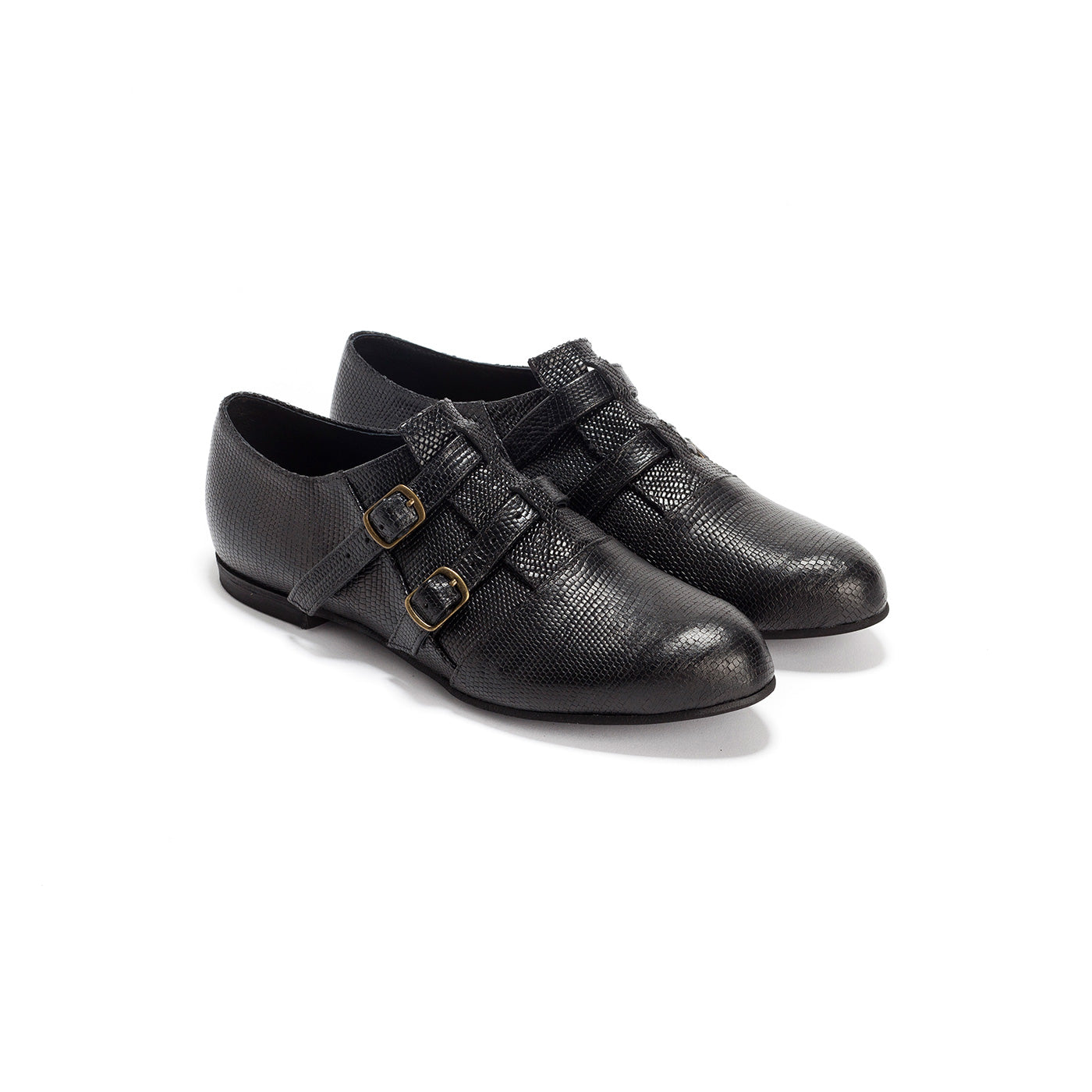 Carrie - Leather Monk Shoes
