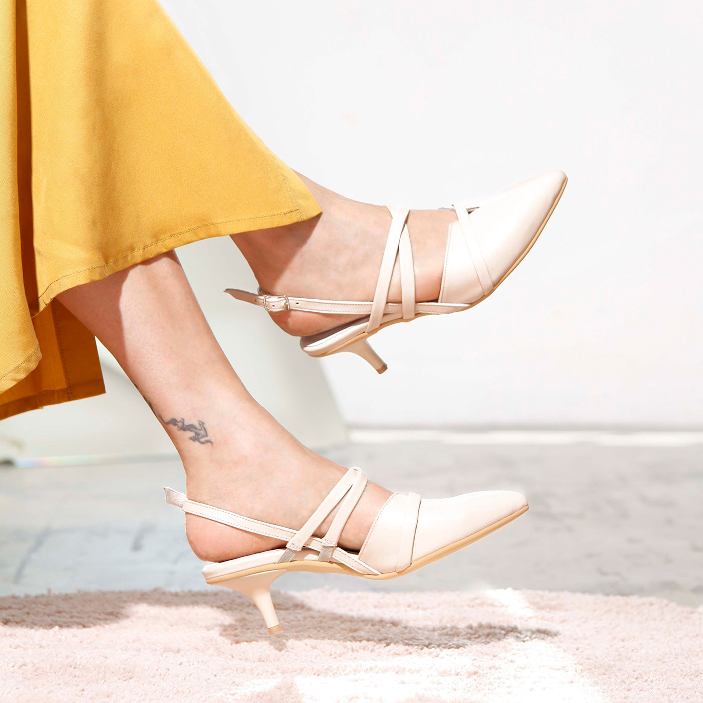 Celine - Cream Leather Heels