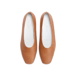 Cora - Printed Leather Flats