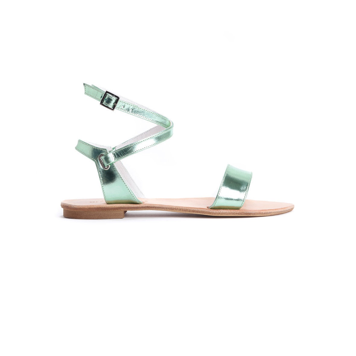 Metallic Leather Sandals - Ellie