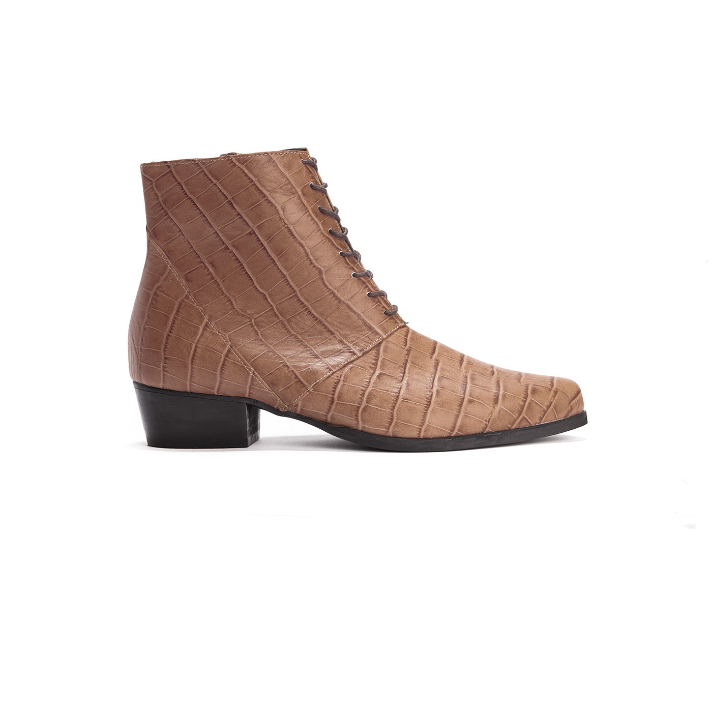 Margo - Leather Derby Boots