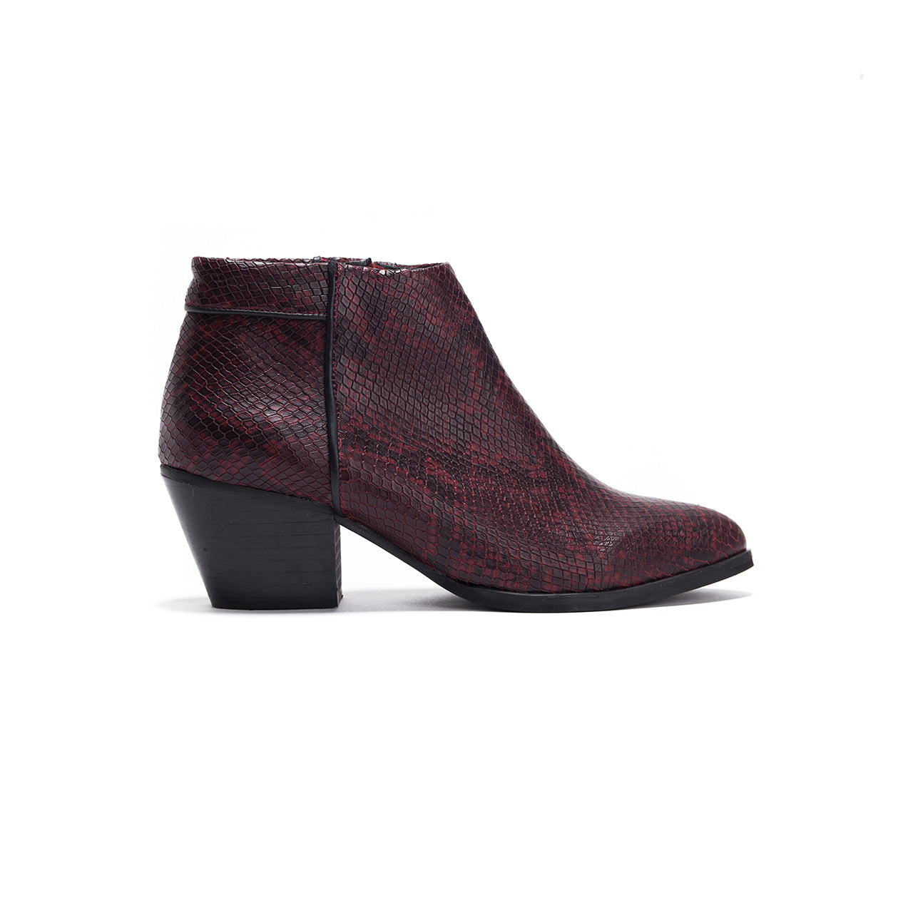 May - Snake Print Ankle Boots