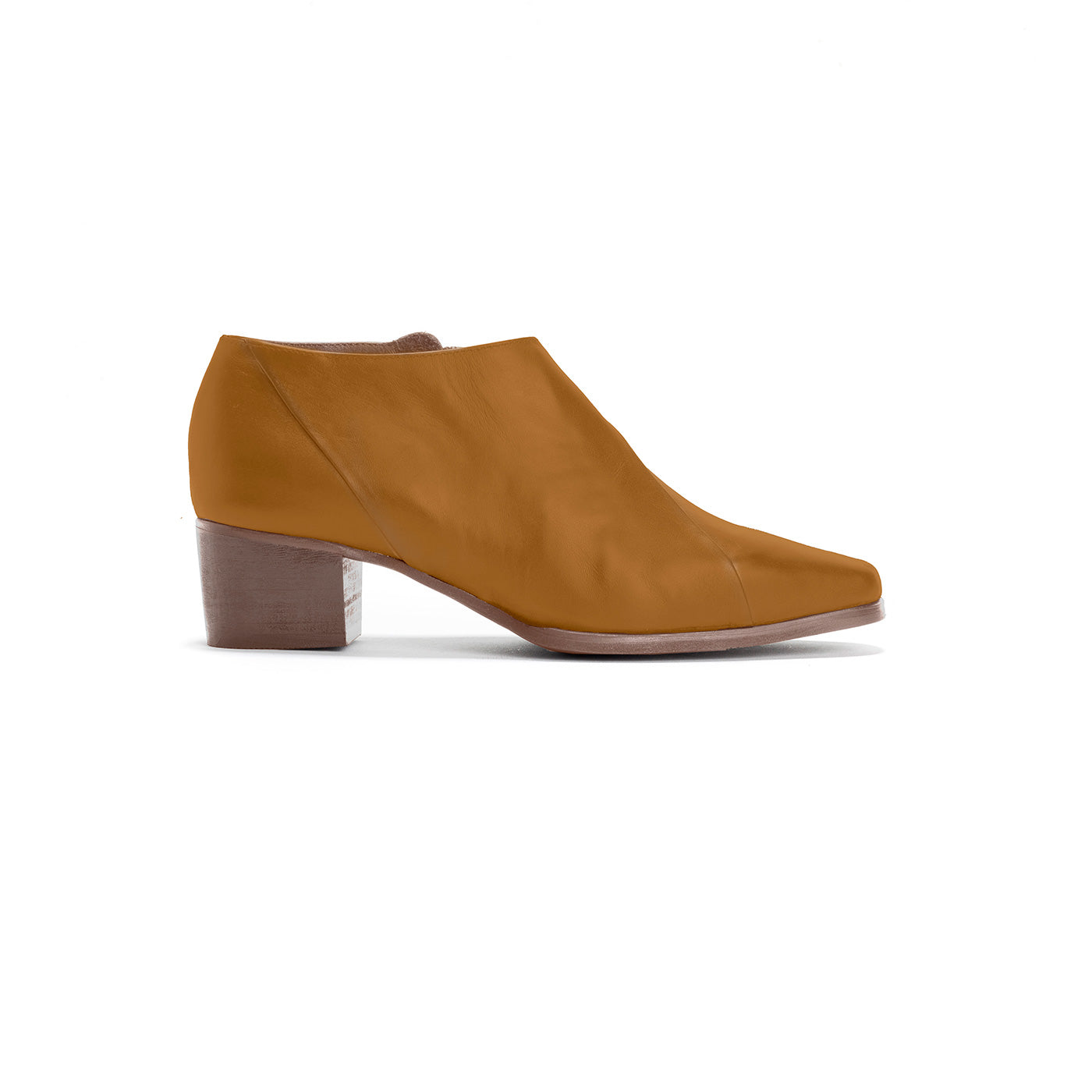 Nadia - Caramel Leather Ankle Boots