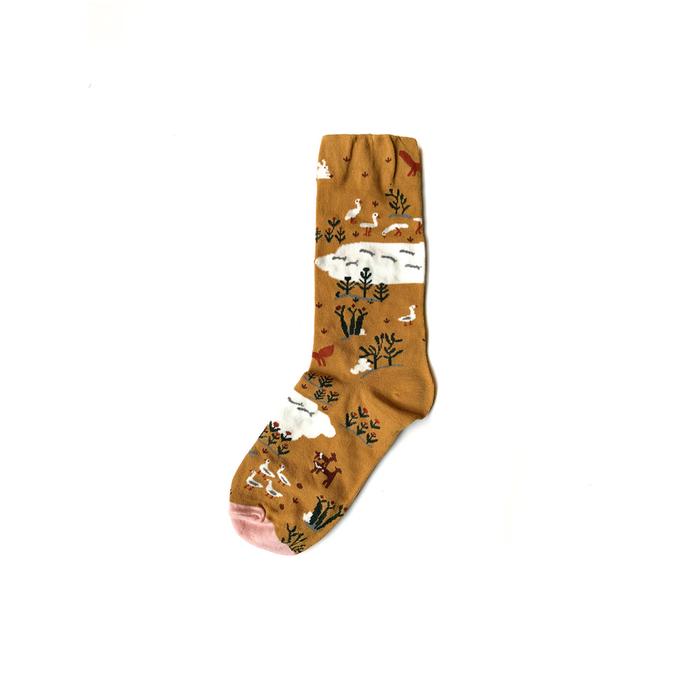 Ochre Animal Socks