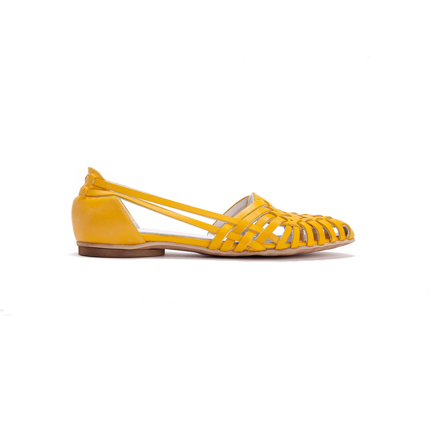 Sara - Yellow Leather Sandals