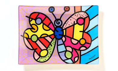 Romero Britto Butterfly Plate - RSVP Beauty Clinic