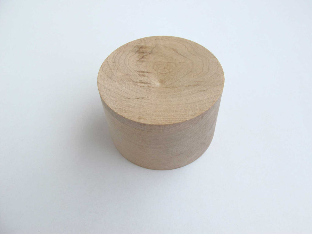 round wood urn - extra small