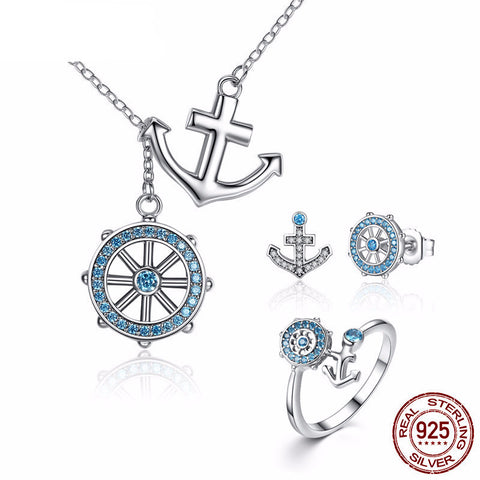 3 in 1 Authentic 925 Sterling Silver Nautical Set