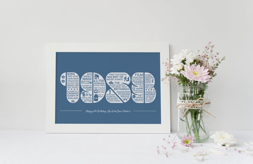 1953 Personalised 65th Birthday Print