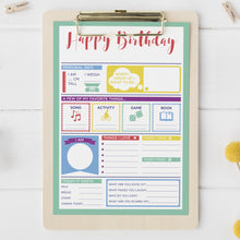 Child's Birthday Poster