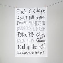 Favourite Foods Tea Towel