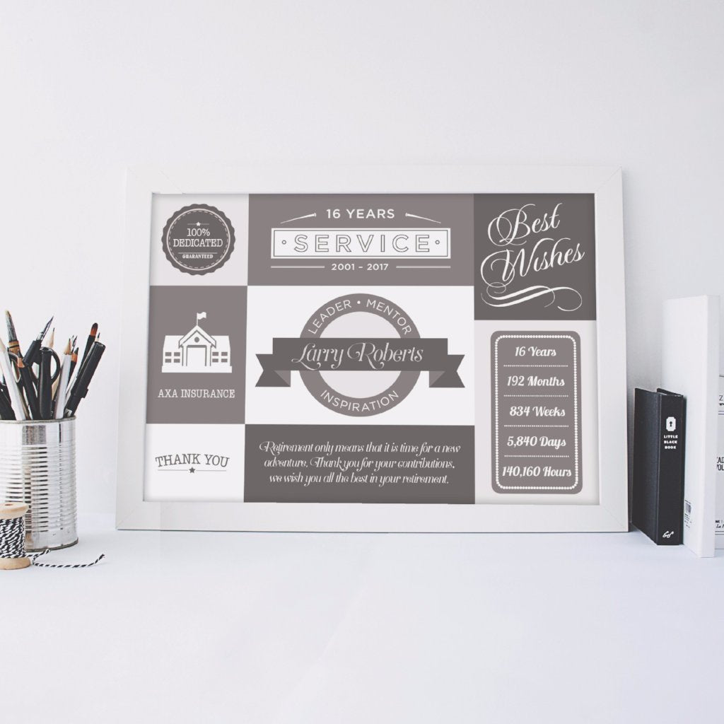 Personalised Leaving Print