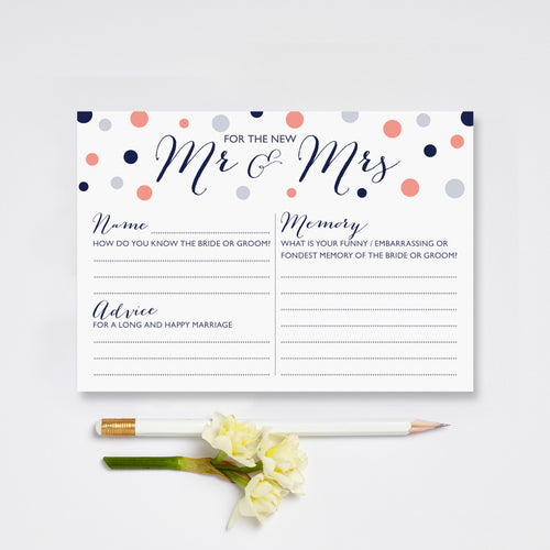 Mr And Mrs Wedding Game Cards Pack Of 10