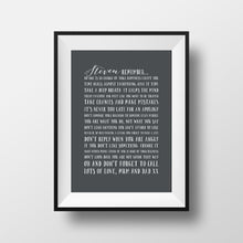 Personalised Wise Words Print
