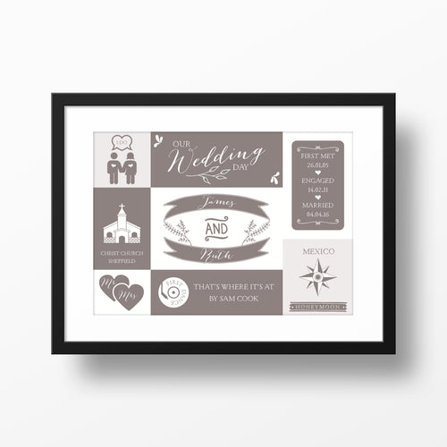 Personalised 'Our Wedding Day' Print