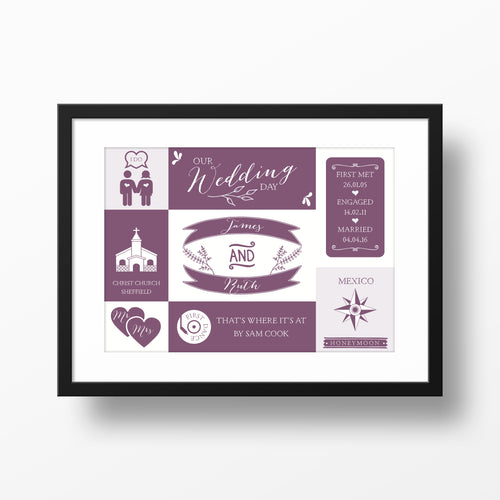 First Wedding Anniversary Personalised Print