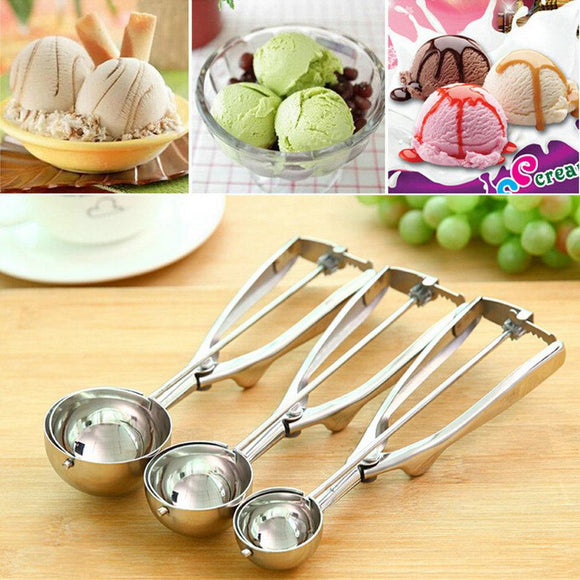 Stainless Steel Ice Cream Scoop (4/5/6cm)
