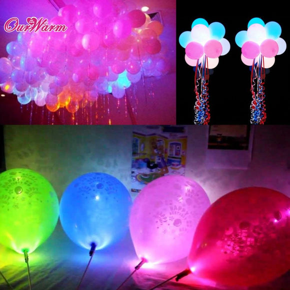 100pcs/lot Colorful LED Lamps Balloon