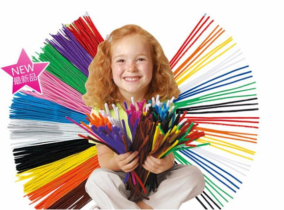 100pcs Pipe Cleaner Stems Craft
