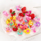 10 Pcs/lot Cartoon Beads Candy Color Hair Clips & Ropes