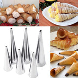 3pcs/set Stainless Steel Spiral Baked Croissants