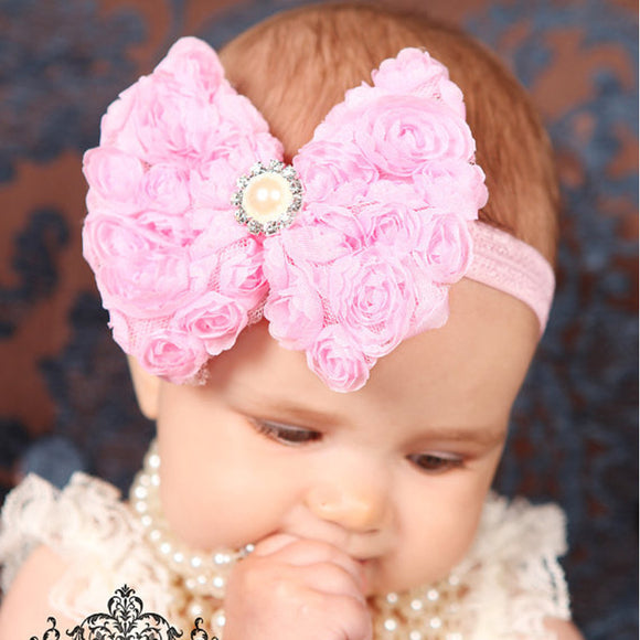 Pearl Diamond Flower Headband
